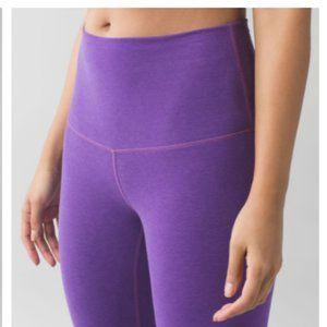 LULULEMON Hi Rise Wunder Under Pant Violet 8 NEW